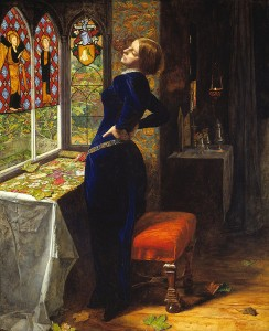 John Everett Millais, <em>Marianna</em>, 1851, oil on panel, 60 x 50cm. Tate, London.