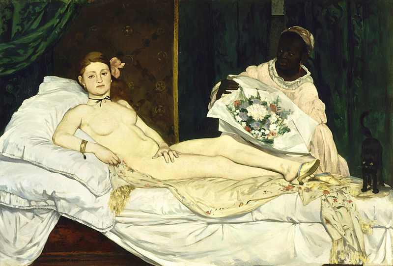 Edouard Manet, <em>Olympia</em>, 1863, oil on canvas, 130x190cm. Musee d'Orsay, Paris