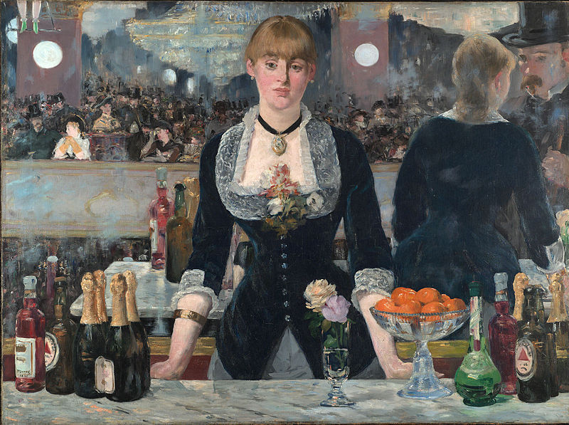 Edouard Manet, <em>A Bar at the Folies-Bergere</em>, 1881-82, oil on canvas, 96 x 130cm. The Samuel Courtauld Trust, The Courtauld Gallery, London.
