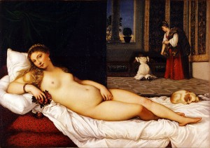 Titian, Venus of Urbino, 1538, oil on canvas, 119 x 165cm, Uffizi, Florence.